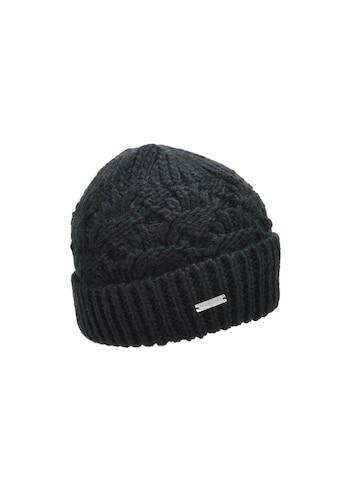 Seeberger Strickmütze »Mütze mit Aufschlag in besonderem Muster 18188-2« kaufen