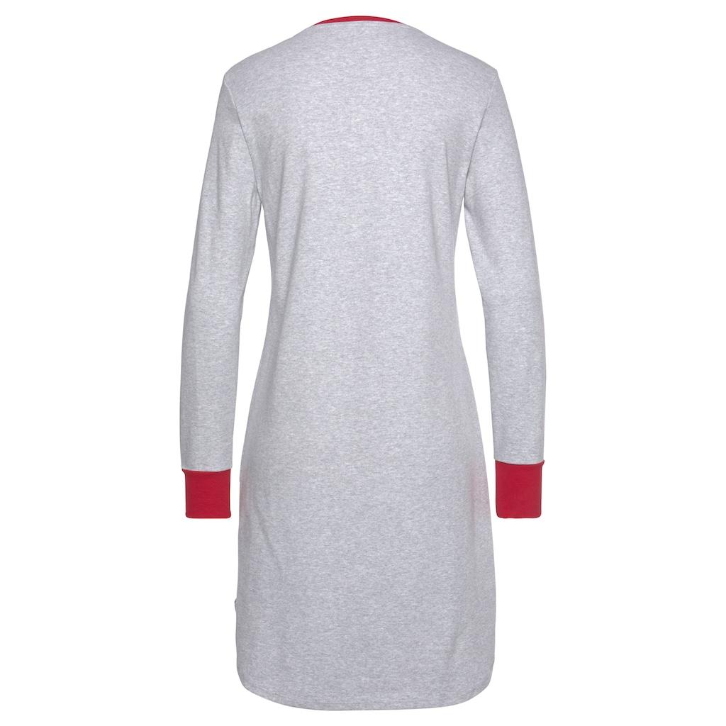 Schiesser Nachthemd, mit weihnachtlichem Rentier-Print