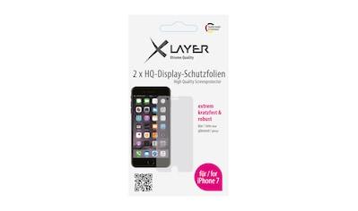 """XLAYER Schutzfolie »100% Clear 2x iPhone (7/8) 4.7""""« kaufen"""
