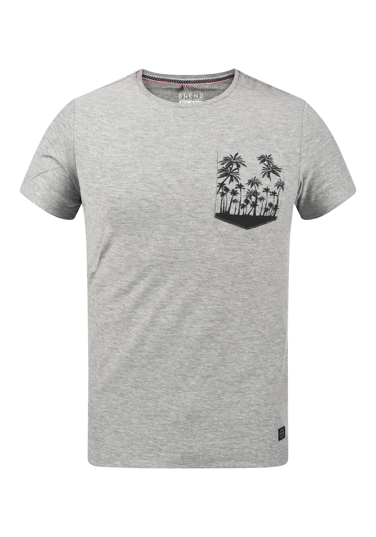 blend -  Print-Shirt 20709797, T-Shirt mit bedruckter Brusttasche