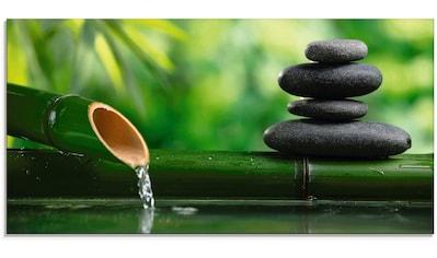 Artland Glasbild »Bambusbrunnen und Zen-Stein«, Zen, (1 St.) kaufen