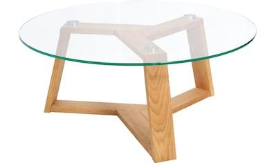 Premium collection by Home affaire Couchtisch »Mantua«, Durchmesser Glastischplatte: 90 cm kaufen