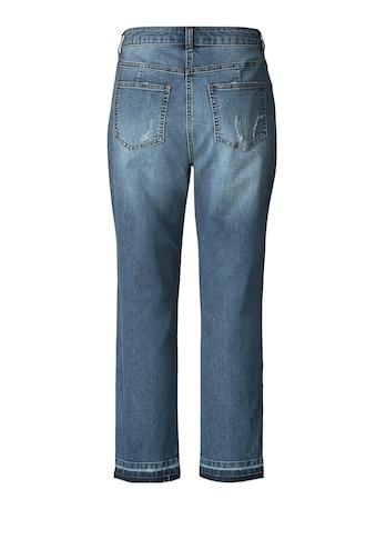 Angel of Style by Happy Size Slim Fit Jeans knöchellang mit Destroyed-Effekt kaufen