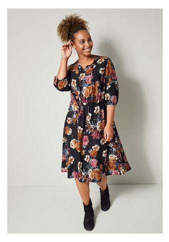 Angel of Style by HAPPYsize Kleid mit Blumendruck kaufen