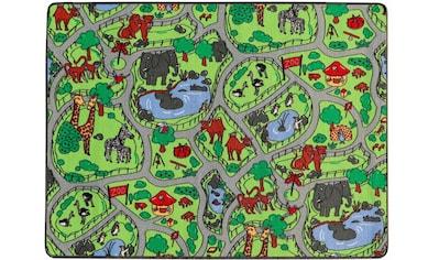 Primaflor-Ideen in Textil Kinderteppich »ZOO«, rechteckig, 5 mm Höhe, Straßen-Spielteppich kaufen