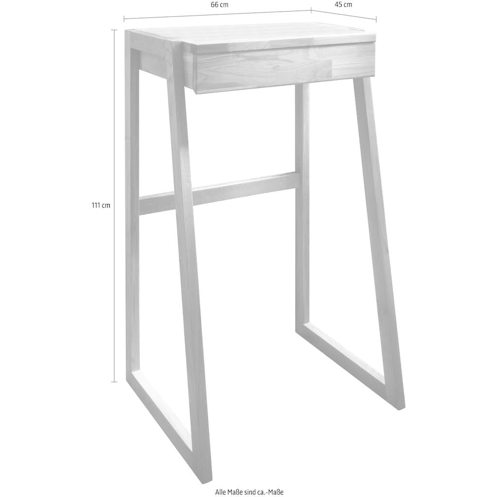 Home affaire Stehpult »Dura«, aus schönem massivem Wildeichenholz, Höhe 111 cm