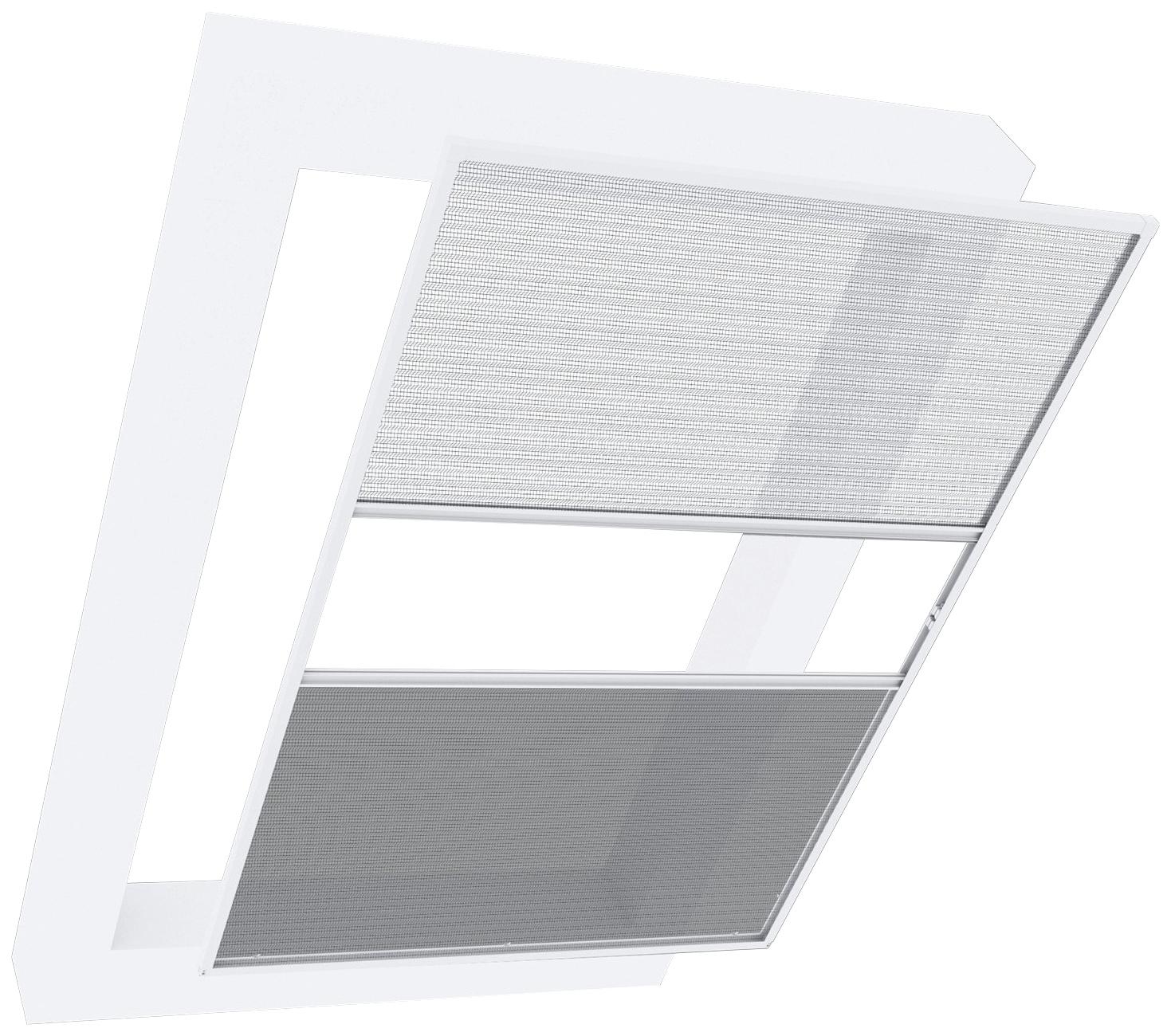 Windhager Insektenschutz-Dachfenster-Rollo Dachfenster 2in1 EXPERT, mit Plissee, BxH: 110x160 cm weiß Insektenschutzfenster Insektenschutz Bauen Renovieren