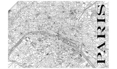 Artland Wandbild »Paris Karte Straßen Karte« kaufen
