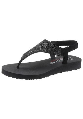 Skechers Sandale »Meditation - Rock Crown«, mit Gummiband an der Ferse kaufen