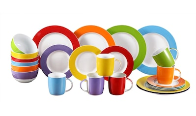 Retsch Arzberg Kombiservice »Colour Band«, (Set, 24 tlg.), Mix & Match Design kaufen