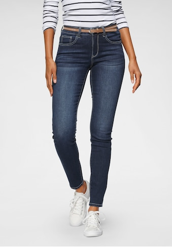 TOM TAILOR Polo Team Slim-fit-Jeans, (mit Gürtel in Lederoptik), in elastische... kaufen
