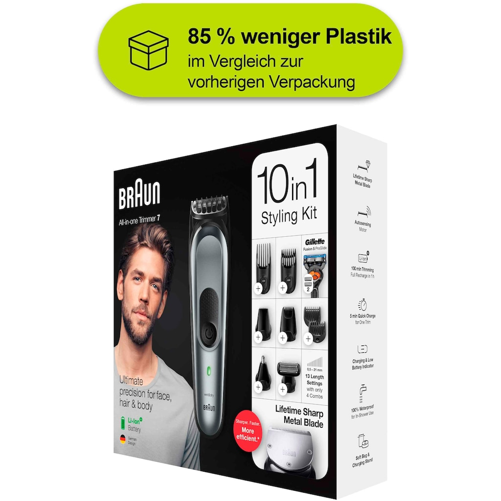 Braun Multifunktionstrimmer »10-in-1 Multi-Grooming-Kit 7 MGK7221«