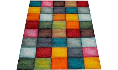 Paco Home Teppich »Smaragd 753«, rechteckig, 18 mm Höhe, 3D-Design, Kurzflor mit Karo... kaufen