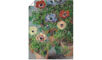 Artland Wandbild »Anemonen in einer Vase. 1885« kaufen