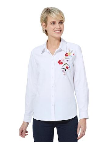 Bluse mit floraler Stickerei kaufen