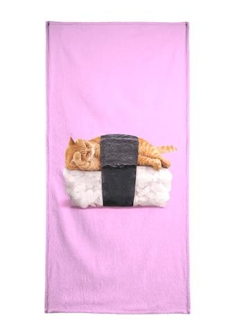"""Handtuch """"Sushi Cat"""", Juniqe kaufen"""