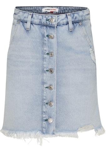 Tommy Jeans Jeansrock »A-LINE SHORT DENIM SKIRT SSPLBRD«, im Used-Look mit... kaufen