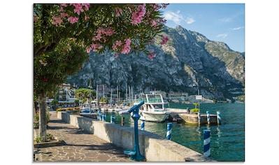 Artland Glasbild »Gardasee Hafen Limone sul Garda«, Europa, (1 St.) kaufen