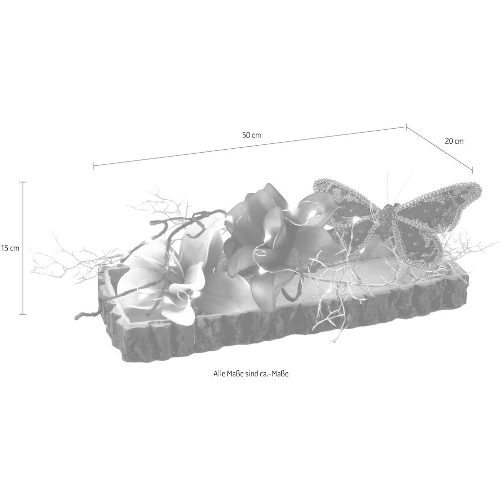 I.GE.A. Dekoobjekt, Soft-Magnolie/Schmetterling