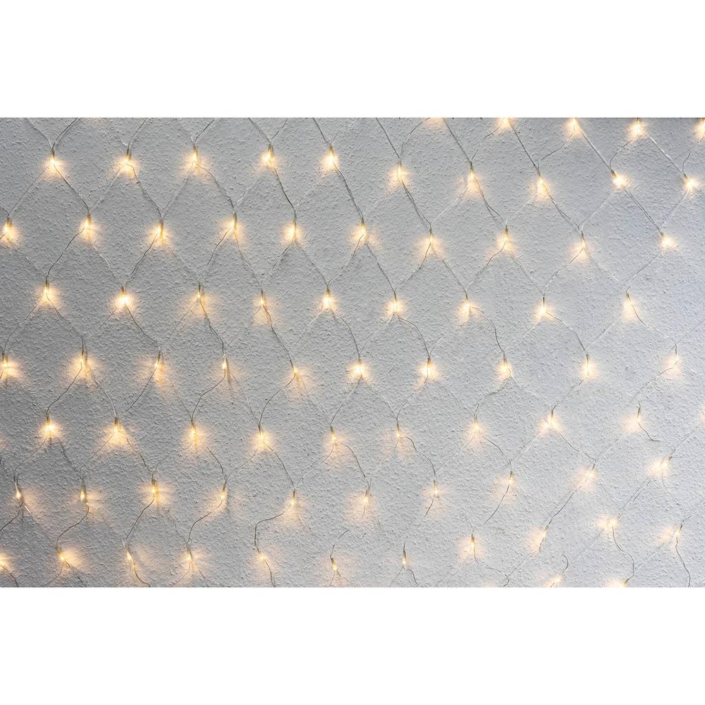 NOOR LIVING LED-Lichternetz, 250x180 cm, mit 8 Funktionen