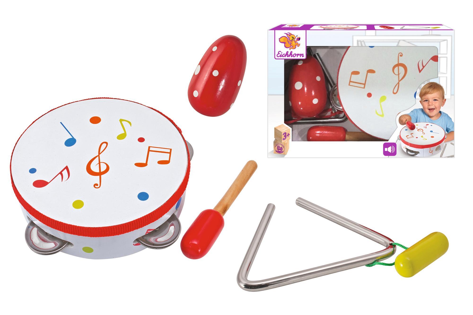 Eichhorn Spielzeug-Musikinstrument Musik Set, 5-tlg., (Set, 5-tlg.) weiß Kinder Musikspielzeug Musikinstrumente Spielzeug-Musikinstrumente