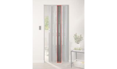 FORTE Türerweiterung , Zusatzlamelle für Falttür »Elvira«, grau gewebt + 3 Fenster kaufen