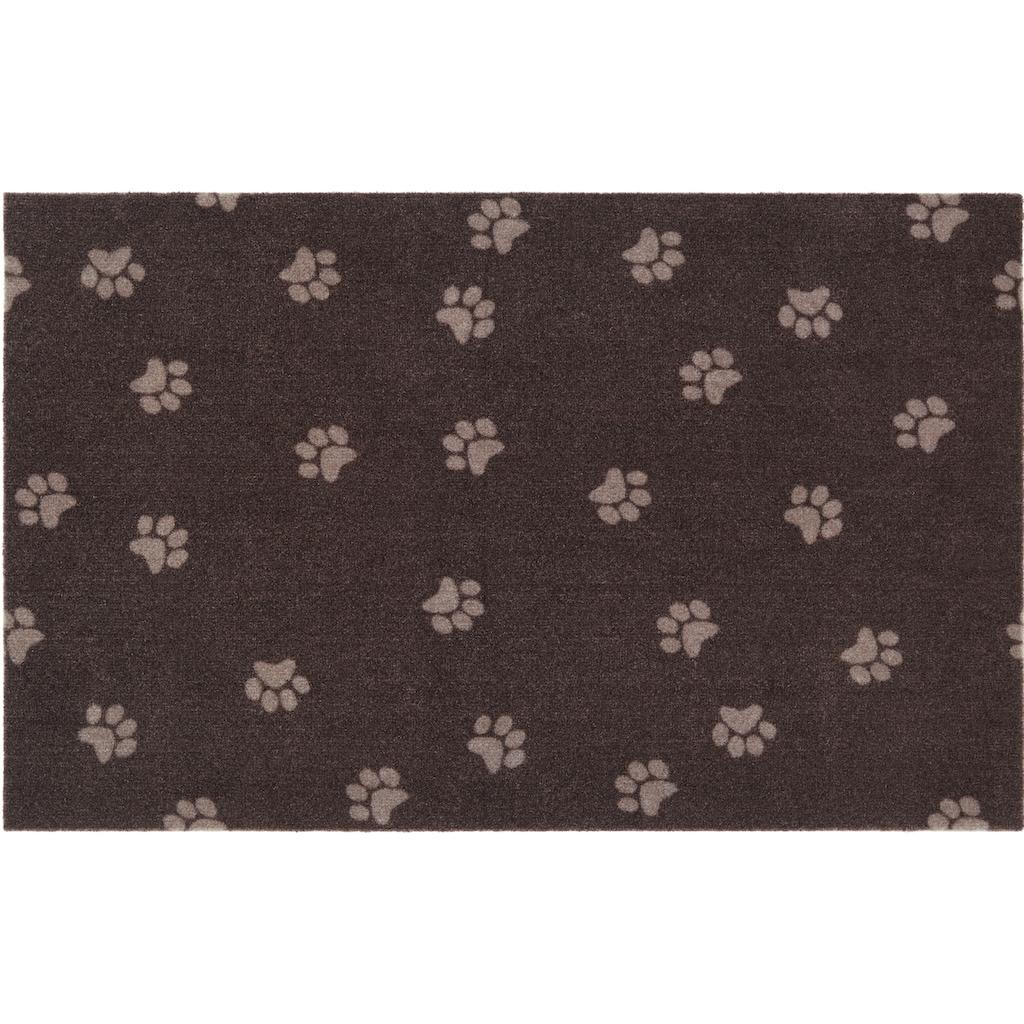 HANSE Home Fußmatte »Paw Prints«, rechteckig, 4 mm Höhe, Fussabstreifer, Fussabtreter, Schmutzfangläufer, Schmutzfangmatte, Schmutzfangteppich, Schmutzmatte, Türmatte, Türvorleger