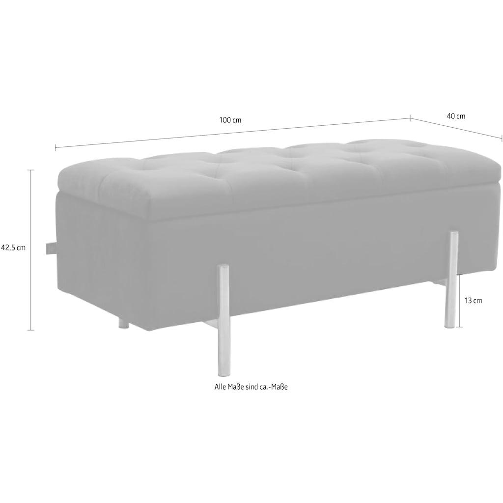 Leonique Bettbank »Aubrey«, Sitzfläche gesteppt, mit Strauraum
