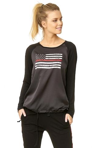 Decay Langarmshirt, mit stylischer USA-Applikation kaufen
