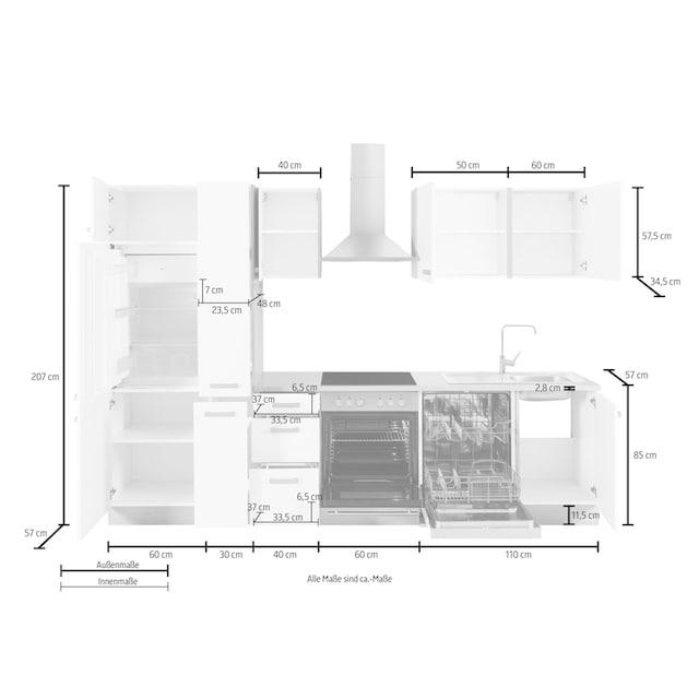 OPTIFIT Küchenzeile »Odense«, Breite 300 cm, inkl.  Hanseatic-Elektrogeräten