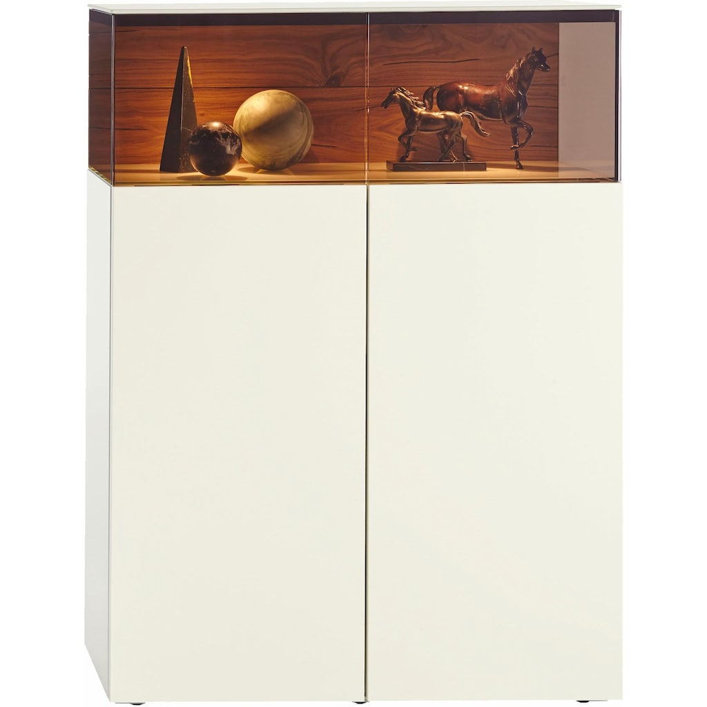 hülsta Vitrine »GENTIS«, zweitürig, Breite 105,5 cm, inklusive Beleuchtung