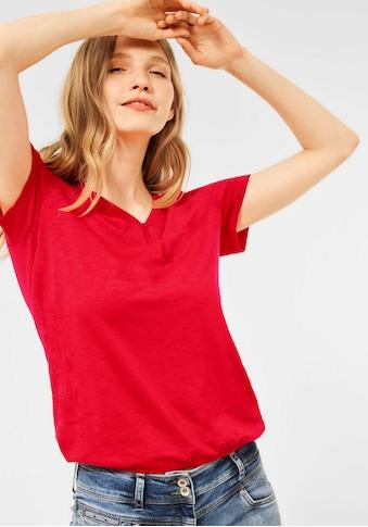 Cecil V-Shirt, mit kurzer Knopfleiste am Ausschnitt kaufen