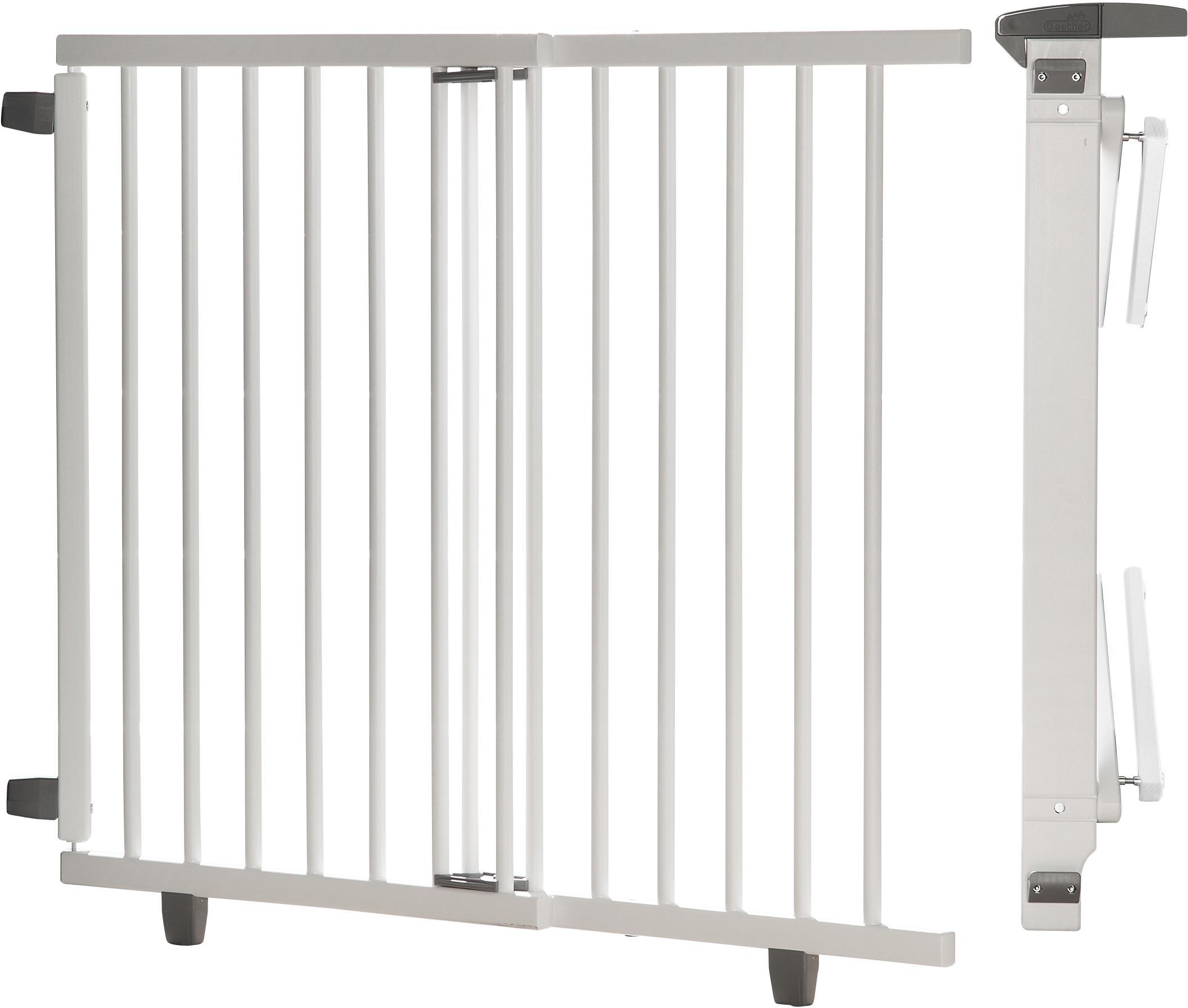 Geuther Treppenschutzgitter Plus weiß 95-135 cm Kindermode/Ausstattung/Babygitter/Treppenschutzgitter