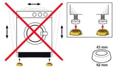 Eyckhaus kitchen & cooking Vibrationsdämpfer, Für Waschmaschinen, Zur Montage unter der Waschmaschine, für ruhigen, schwingungsärmeren Lauf, die vier praktischen Dämpfer sorgen für eine erhöhte Standsicherheit der Maschine und dienen der Geräuschdämpfung, Sorgt für einen stabilen Stand, Empfindliche Fußböden werden den Einsatz der Rutschfüße geschützt. kaufen