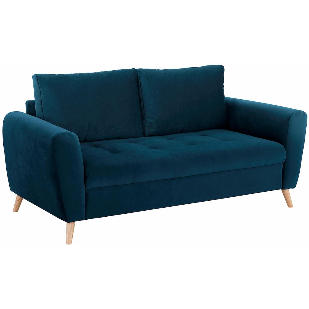 Home affaire 2,5-Sitzer »Penelope«, mit feiner Steppung im Sitzbereich, skandinavisches Design