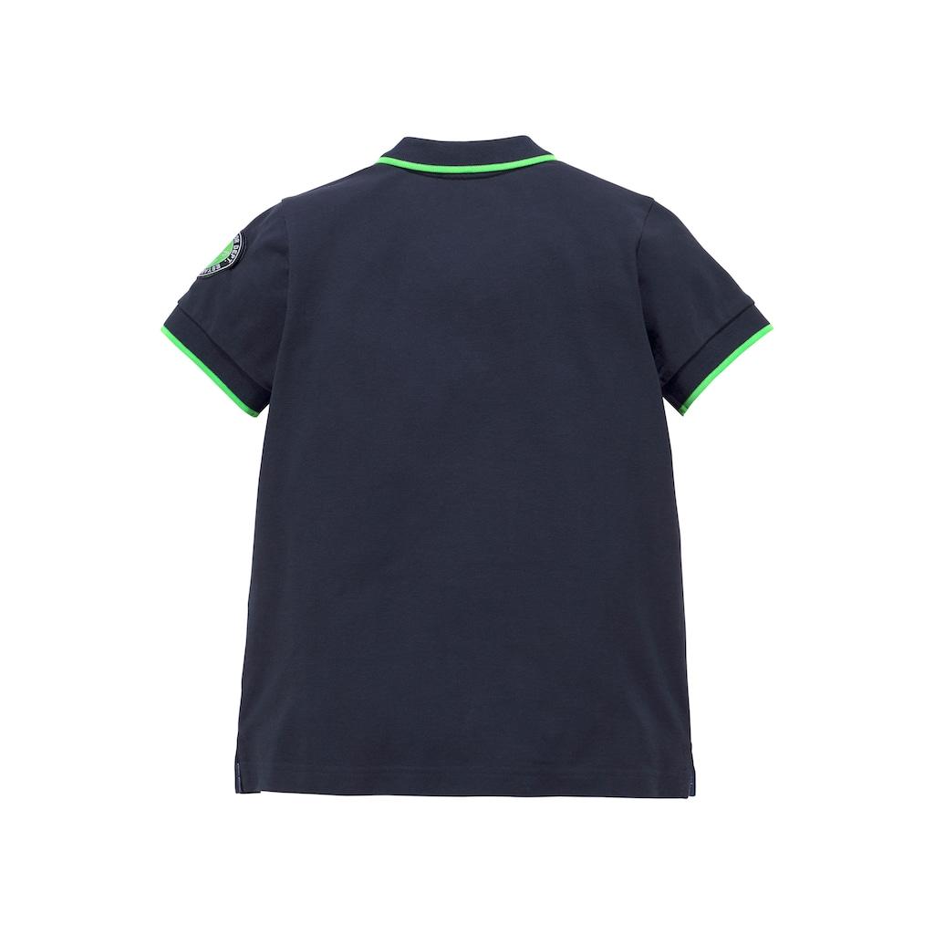 TOM TAILOR Polo Team Poloshirt, mit Stickerei und Applikation