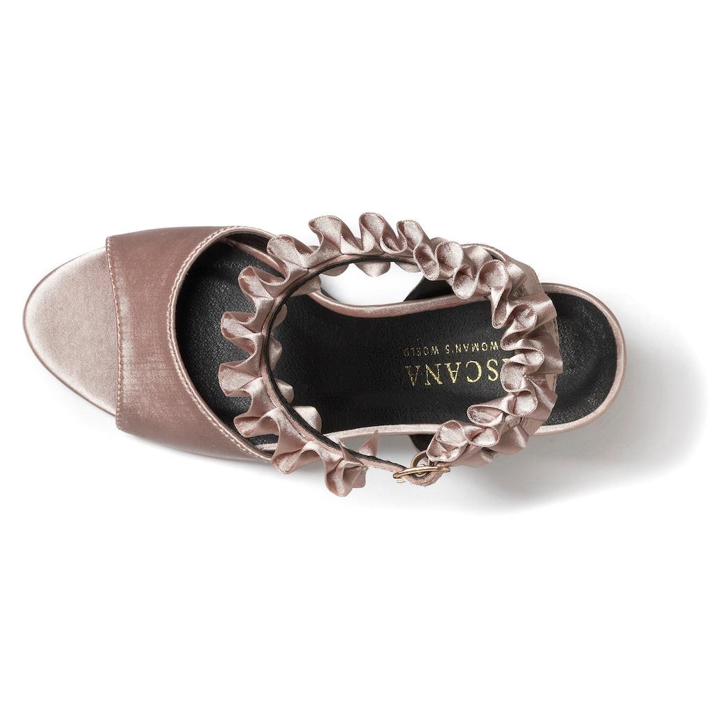 LASCANA High-Heel-Sandalette, mit Rüschenband