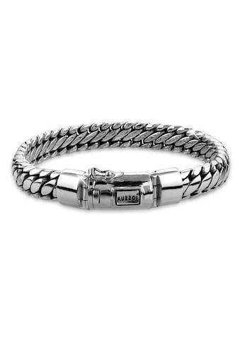 Kuzzoi Armband »Herrenschmuck Panzerarmband Rund Basic 925 Silber« kaufen