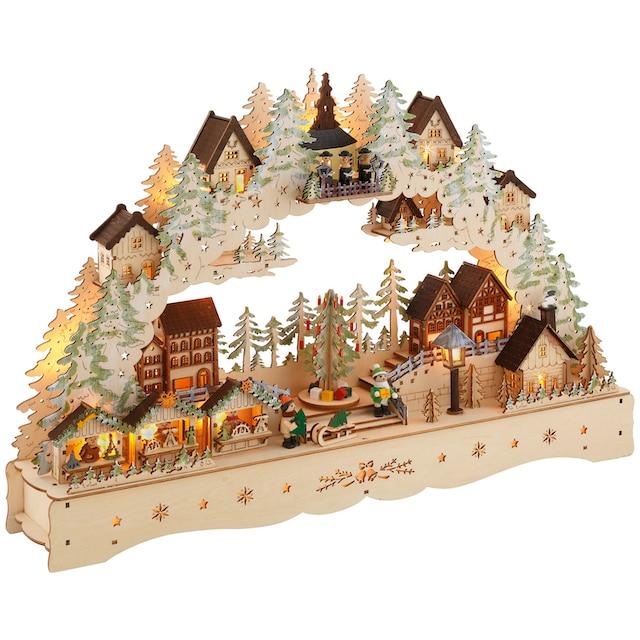 """Schwibbogen """"LED Weihnachtsleuchter mit drehendem Baum und Musik"""""""