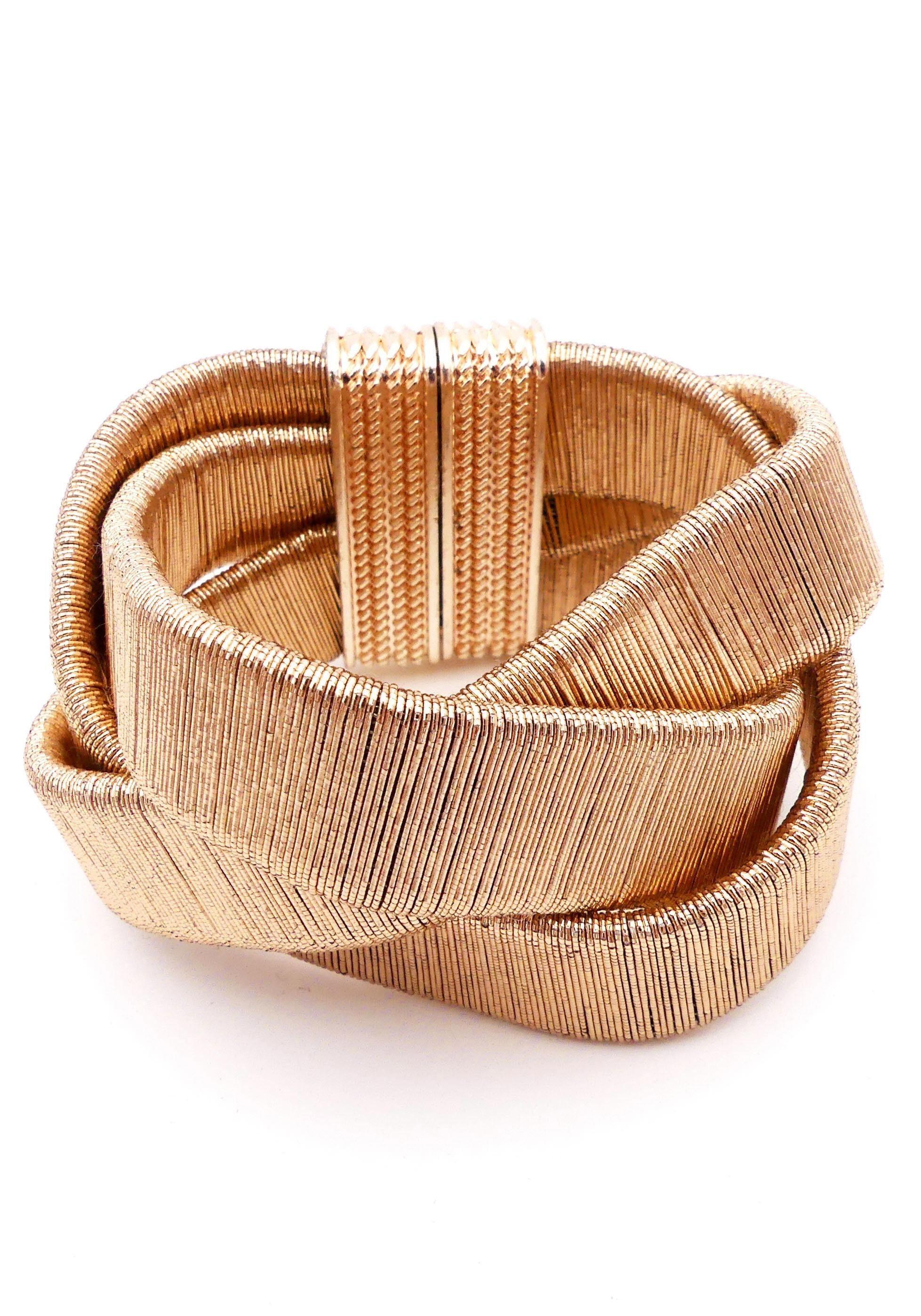 JJayz Armband im geflochtenem Design vergoldet | Schmuck > Armbänder > Goldarmbänder | J.Jayz