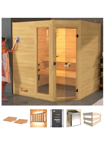 weka Sauna »Lars Eck 2«, 7,5 kW Bio-Kombiofen mit ext. Steuerung kaufen
