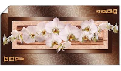 Artland Wandbild »Weiße Orchideen mit goldenen Vierecken« kaufen