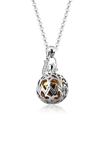 Nenalina Kette mit Anhänger »Kugel Ornament Buchstabe B Zirkonia 925 Silber« kaufen