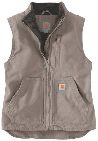 Carhartt Fellweste »SHERPA LINED MOCK NECK VEST«, mit praktischen Fronttaschen kaufen