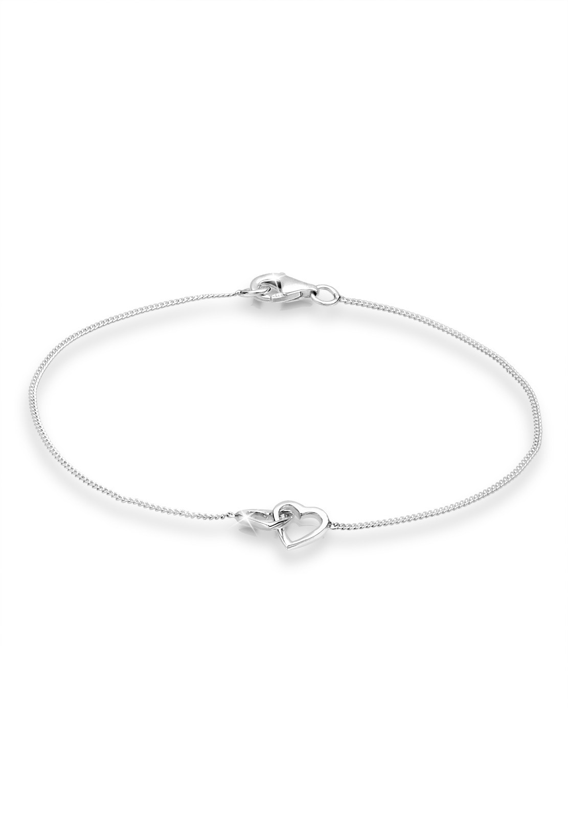 Elli Armband Herz Heart Verschlungen 925 Sterling Silber | Schmuck > Armbänder > Silberarmbänder | Elli