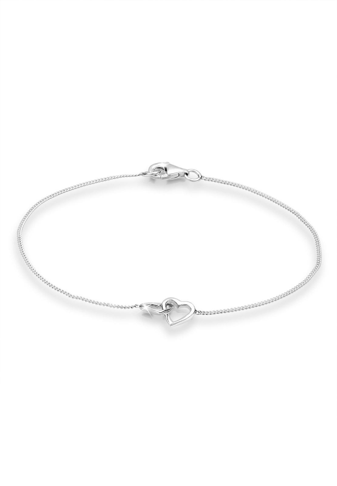 Elli Armband Herzen Verschlungen Lovely 925 Silber   Schmuck > Armbänder > Silberarmbänder   Elli
