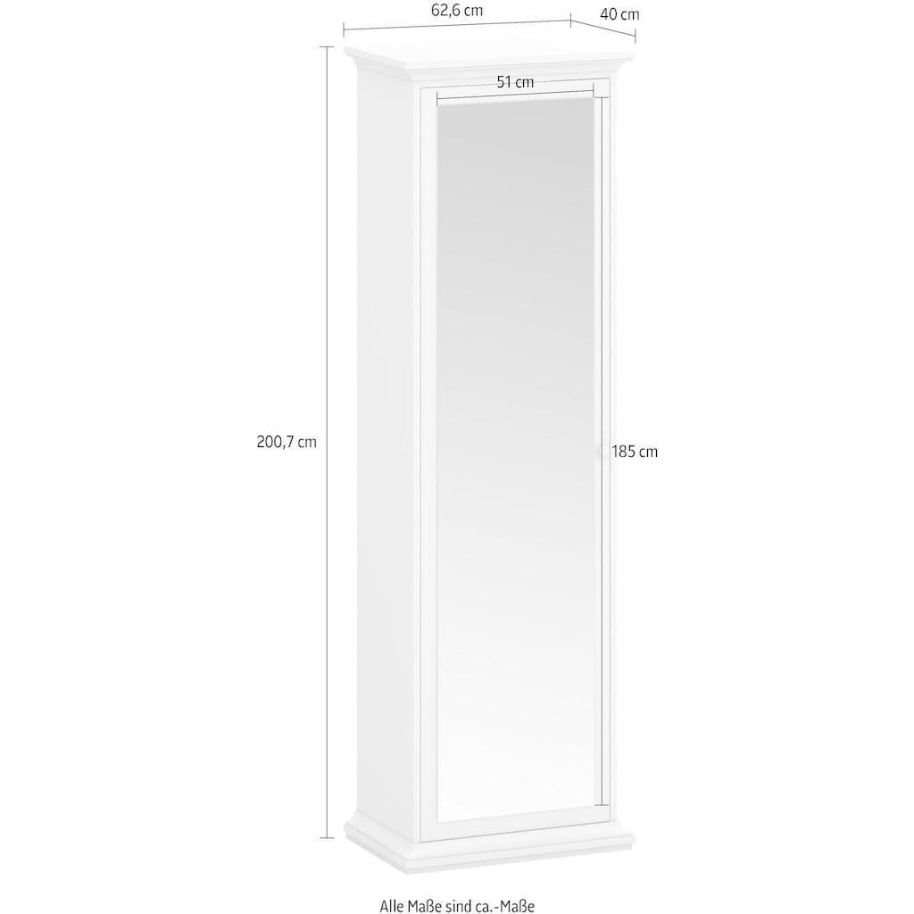 Home affaire Garderobenschrank »Paris«, mit vielen Stauraummöglichkeiten und einer Spiegelfront, Höhe 200,7 cm