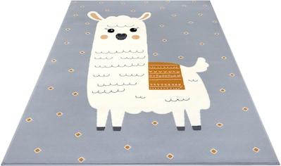 Kinderteppich, »Lama Monty«, HANSE Home, rechteckig, Höhe 9 mm, maschinell gewebt kaufen