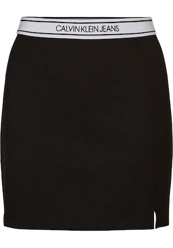 Calvin Klein Jeans Jerseyrock »LOGO ELASTIC MILANO MINI SKIRT« kaufen