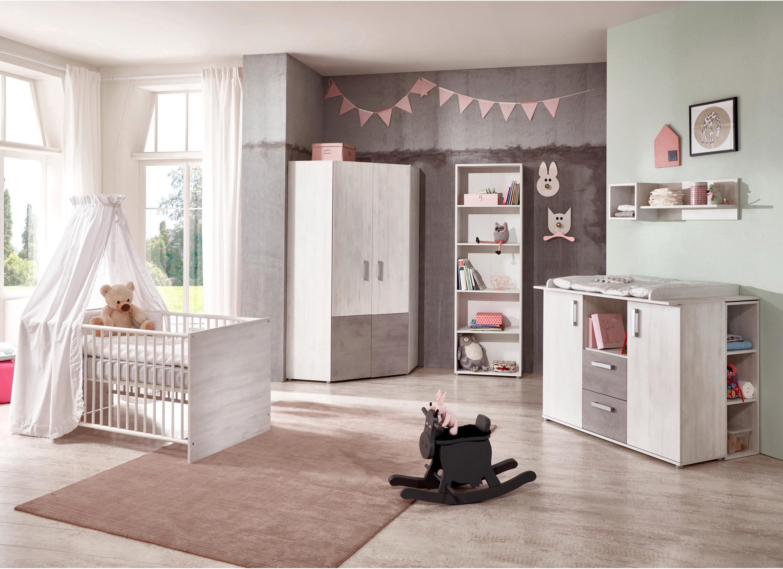 arthur berndt Babyzimmer-Komplettset Insa mit Eckkleiderschrank (Set 3-tlg)
